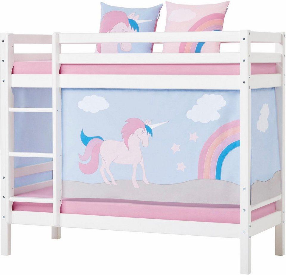 hoppekids etagenbett einhorn inkl vorhang set matratzen und rollroste online kaufen otto. Black Bedroom Furniture Sets. Home Design Ideas