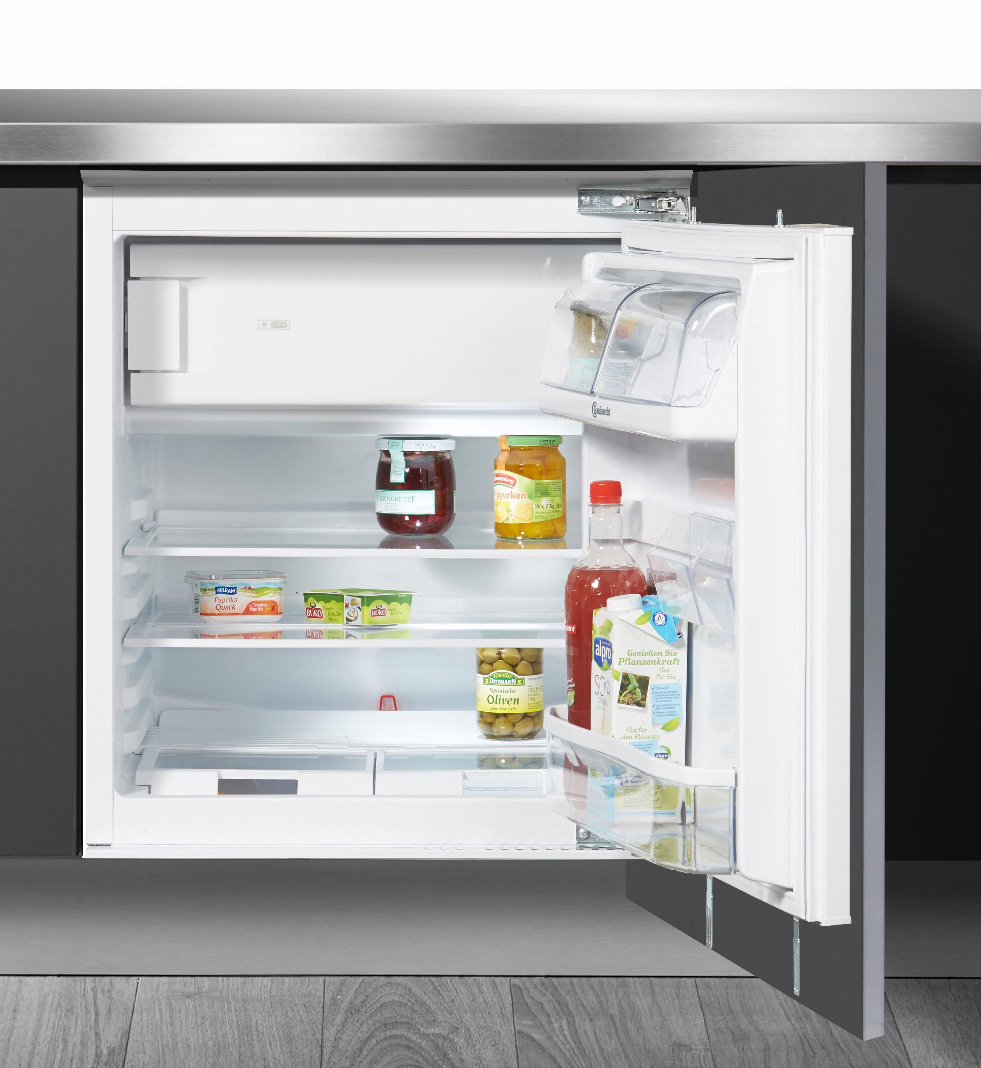 BAUKNECHT Einbaukühlschrank UVI 1884, 81,5 cm hoch, 59,6 cm breit, Energieklasse A++, 81,5 cm hoch, integrierbar, Unterbau