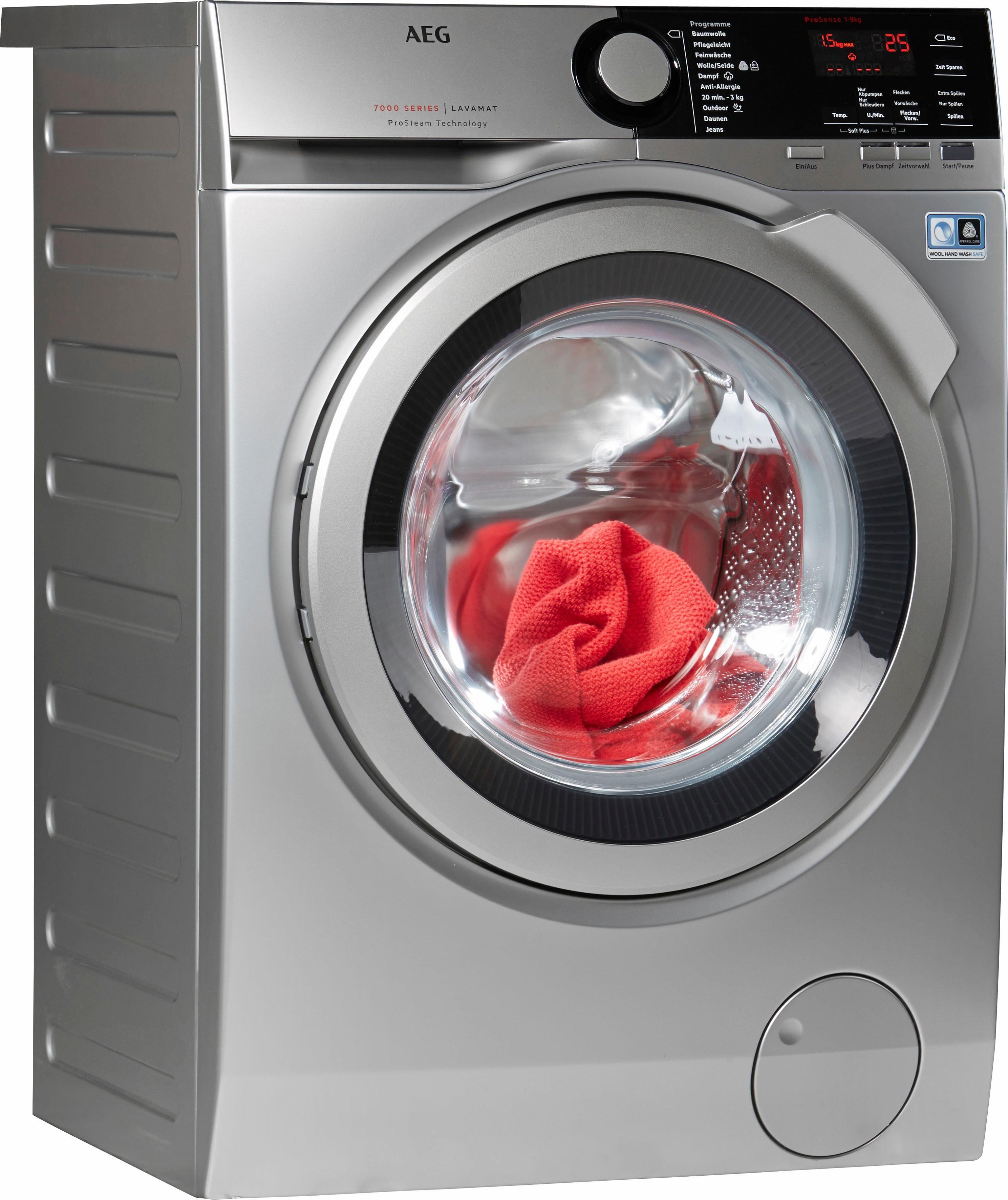 AEG Waschmaschine LAVAMAT L7FE74485S, 8 kg, 1400 U/Min