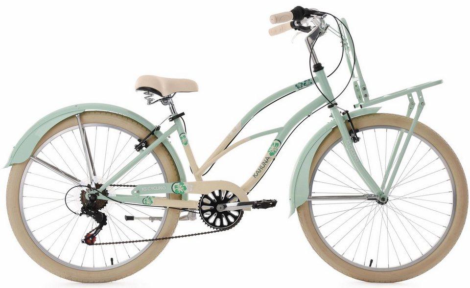 ks cycling beachcruiser 26 zoll mint beige 6 gang shimano tourney schaltwerk kahuna online. Black Bedroom Furniture Sets. Home Design Ideas