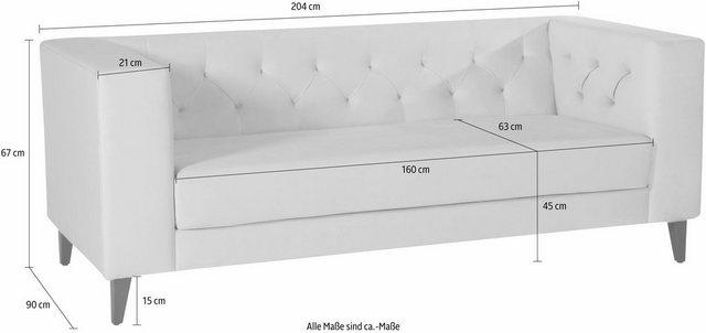 Sofas - Alte Gerberei 2 Sitzer »Evelin«, mit Knopfheftung  - Onlineshop OTTO