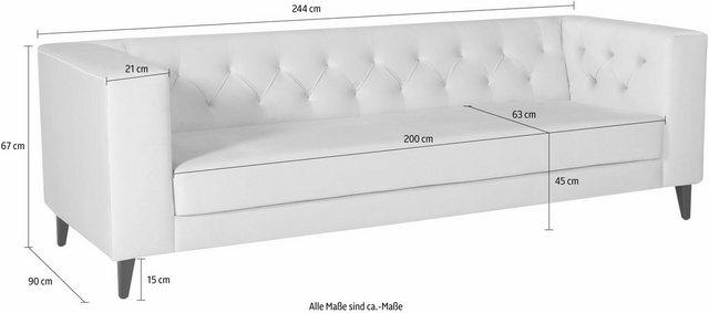 Sofas - Alte Gerberei 3 Sitzer »Evelin«, mit Knopfheftung  - Onlineshop OTTO