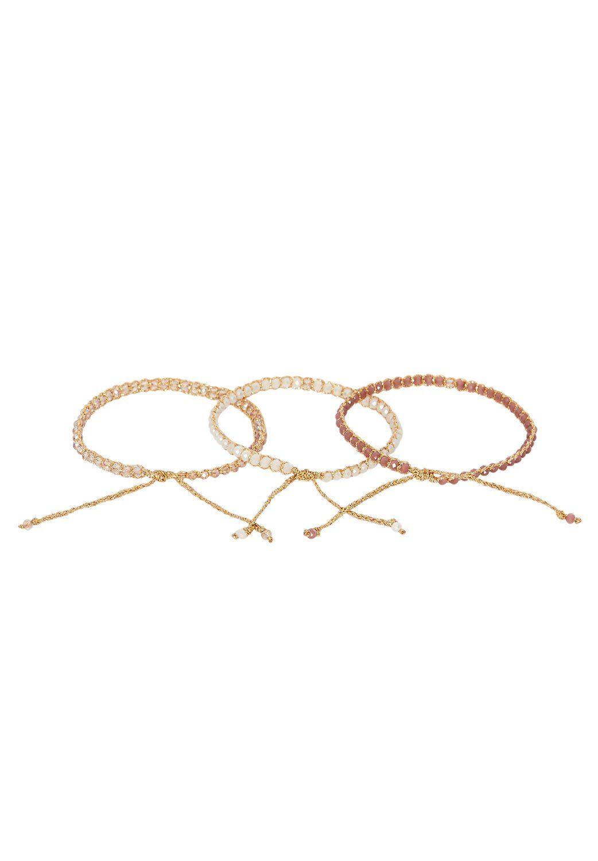 HALLHUBER Lurex-Armband mit Perlen