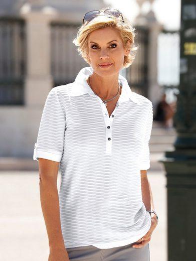 Paola Poloshirt mit Strukturmuster