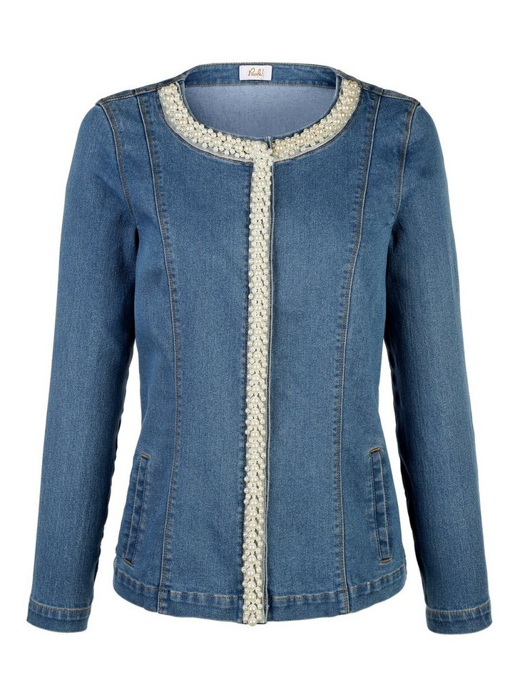 Paola jeansjacke mit dekorativer perlenverzierung otto - Jeansjacke perlen ...