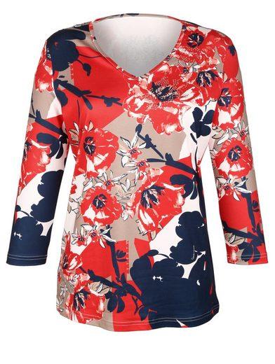 Shirt Grafischem Paola Shirt Mit Blumendruck Mit Shirt Blumendruck Paola Mit Paola Grafischem dHXX17cqw