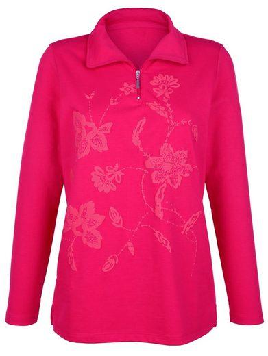 Paola Sweatshirt mit gummiertem Druck
