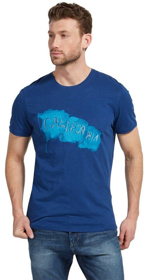 tom tailor t shirt t shirt mit schriftzug stickerei. Black Bedroom Furniture Sets. Home Design Ideas