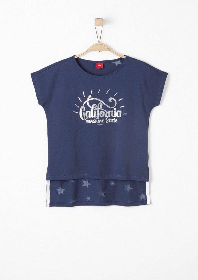 s oliver red label junior trend shirt mit glitzer und. Black Bedroom Furniture Sets. Home Design Ideas
