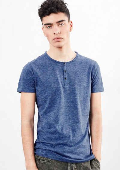 Q/S designed by Henley-Shirt mit Melange-Effekt Sale Angebote Schwarzbach