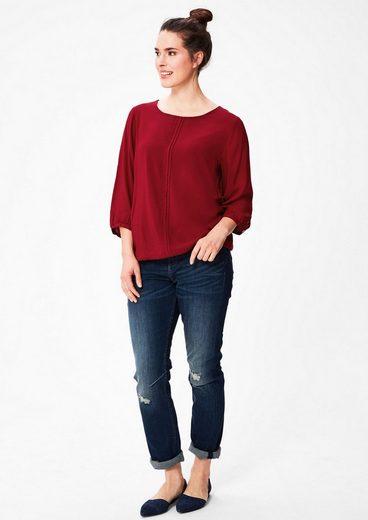 TRIANGLE O-Shape-Bluse mit Biesen