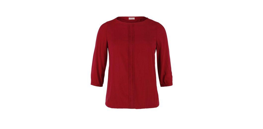 TRIANGLE O-Shape-Bluse mit Biesen Die Günstigste Günstig Online Spielraum Mode-Stil  Spitzenreiter Rabatt-Shop Für K4lIuh