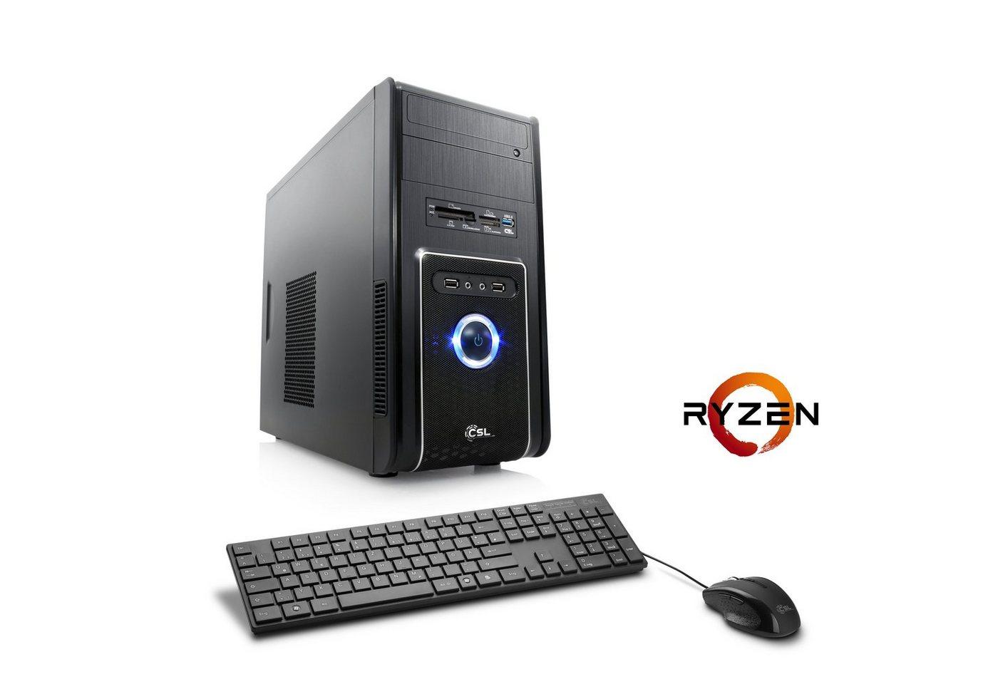 CSL Multimedia PC | Ryzen 5 1400 | GeForce GT710 | 8 GB DDR4 | SSD »Sprint T8871 Windows 10 Home« - Preisvergleich