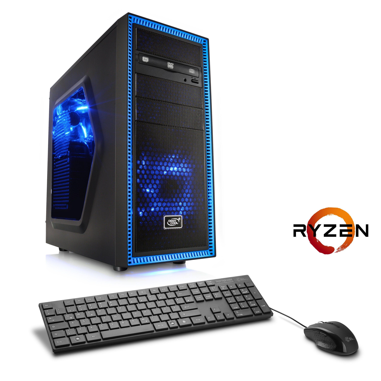 CSL Gaming PC | Ryzen 5 1600 | GeForce GTX 1060 | 8 GB DDR4 | SSD »Sprint T8893 Windows 10 Home«