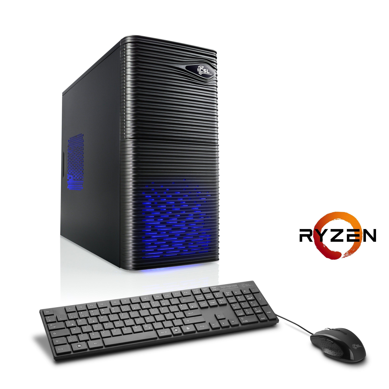 CSL Gaming PC | Ryzen 5 1500X | GeForce GTX 1050 | 8 GB DDR4 | SSD »Sprint T8873 Windows...