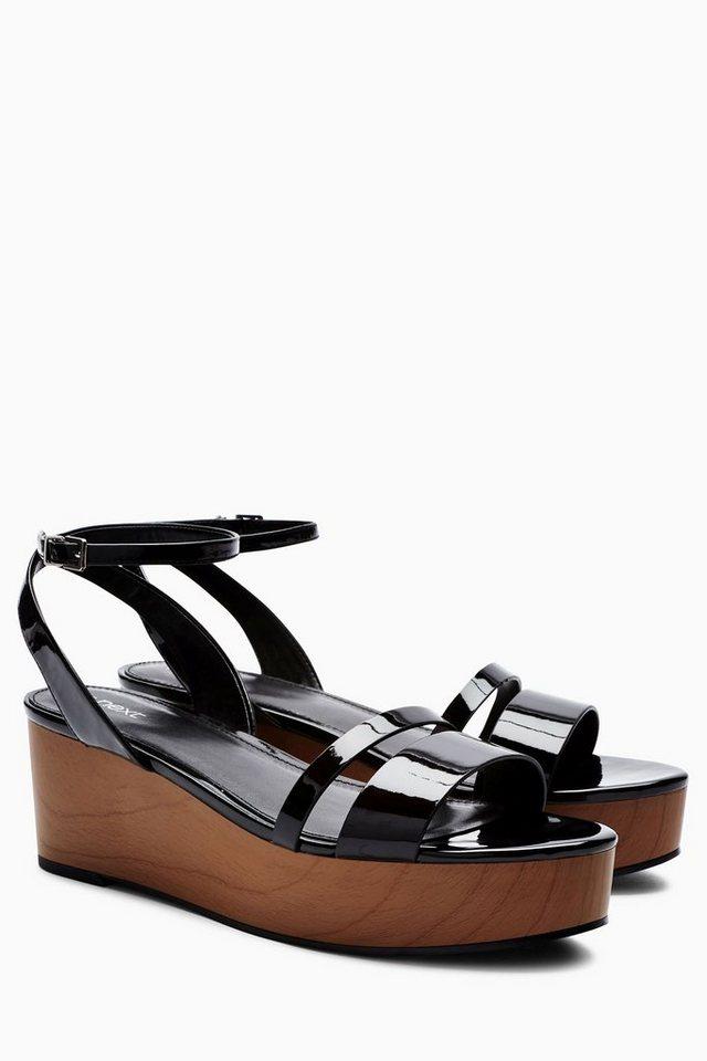 next sandalette in lackoptik mit keilabsatz kaufen otto. Black Bedroom Furniture Sets. Home Design Ideas