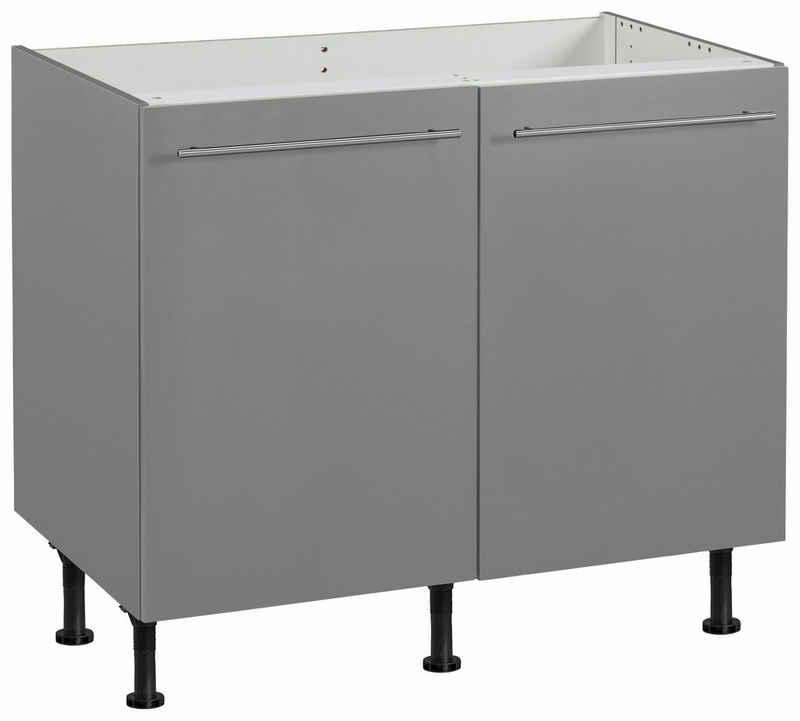 OPTIFIT Spülenschrank »Bern« 100 cm breit, mit 2 Türen, mit höhenverstellbaren Füßen, mit Metallgriffen