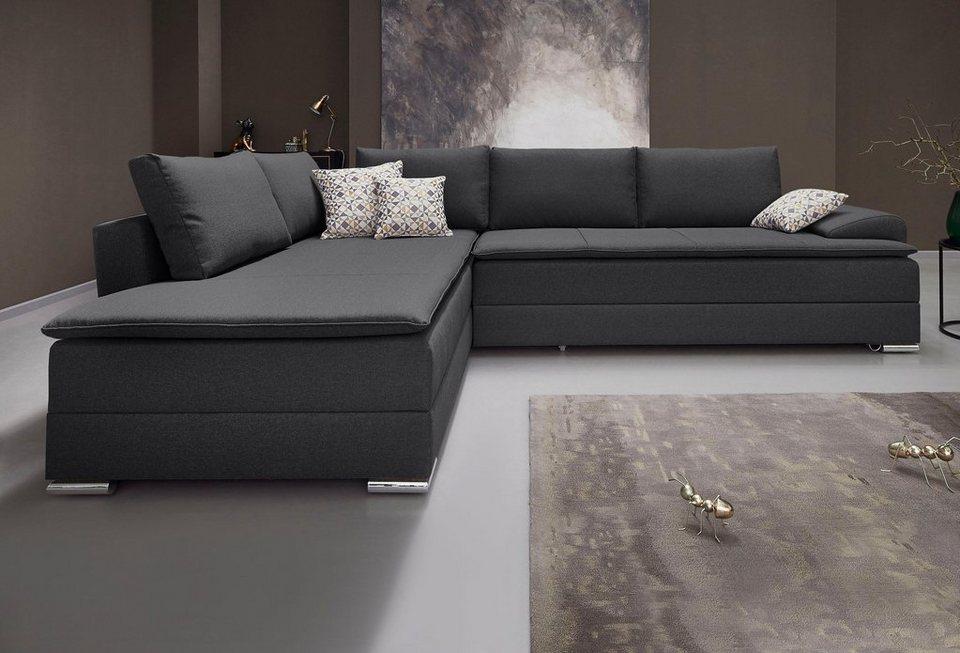 inosign polsterecke mit bettfunktion 180 cm. Black Bedroom Furniture Sets. Home Design Ideas