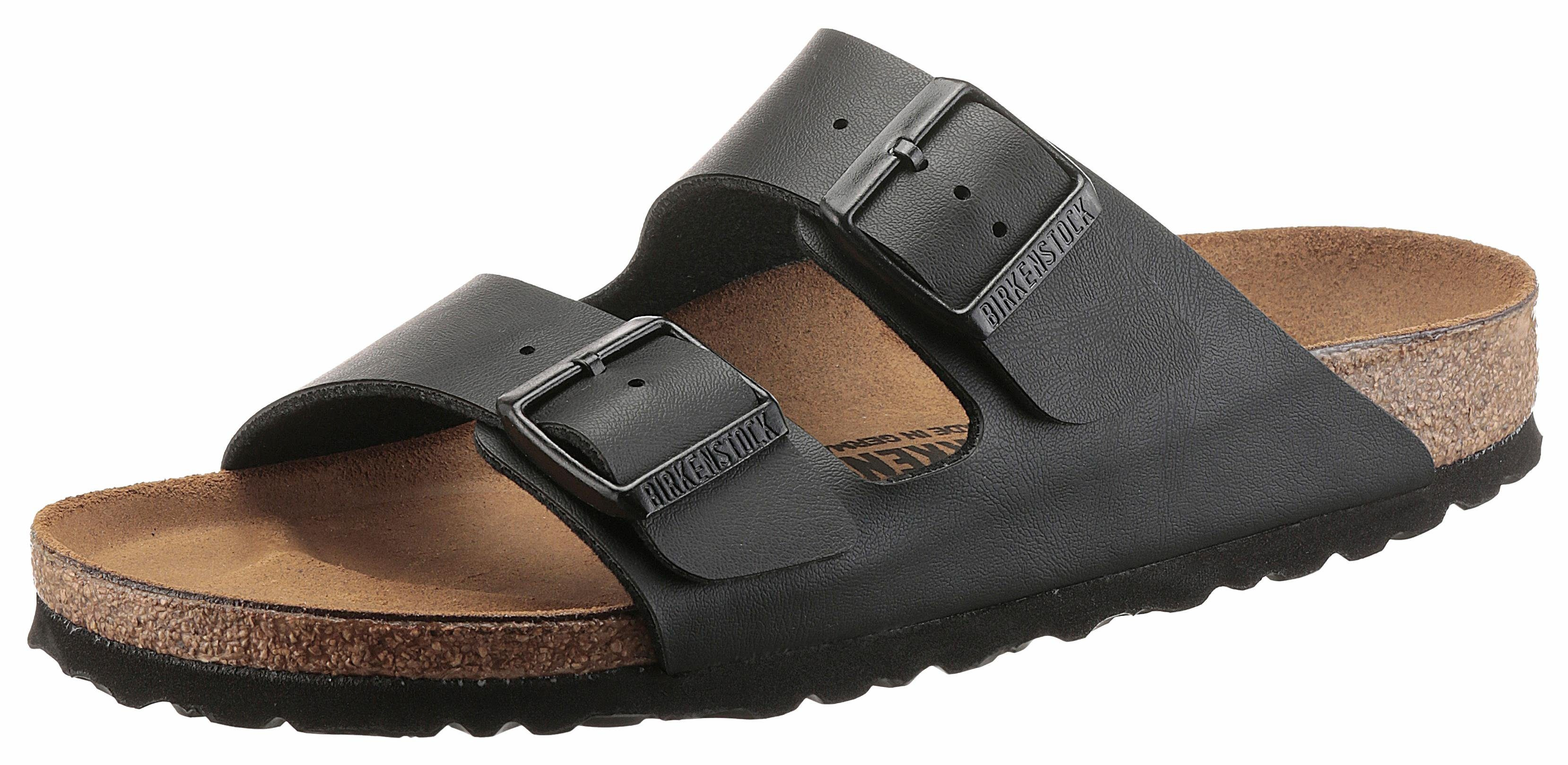 Birkenstock ARIZONA BF Pantolette, in Schuhweite schmal, mit ergonomisch geformten Fußbett online kaufen  schwarz