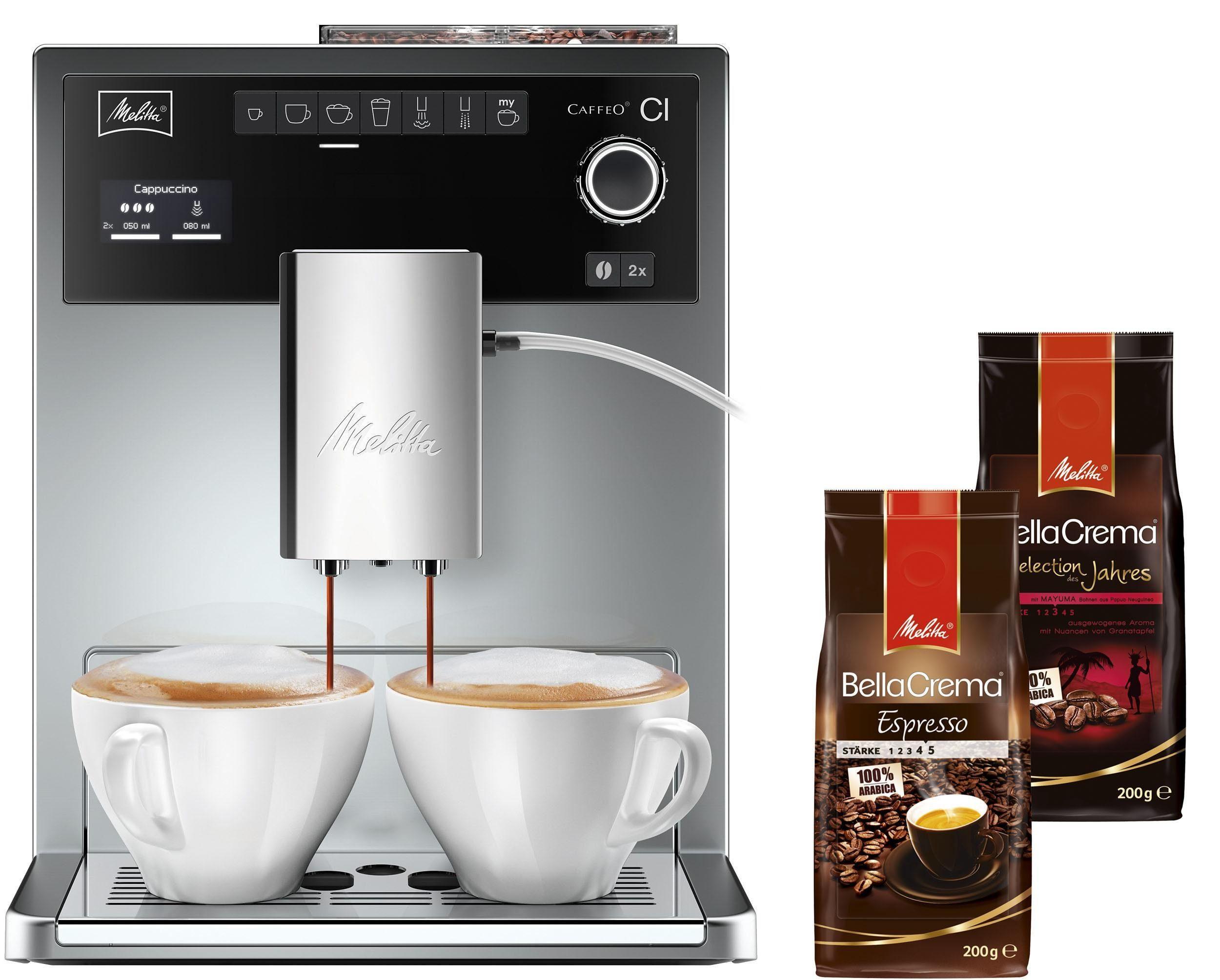Melitta® Kaffeevollautomat Caffeo® CI® E 970-306, silber, 15 bar