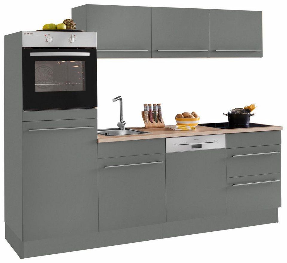 OPTIFIT Küchenzeile »Bern«, ohne E-Geräte, Breite 16 cm mit  höhenverstellbaren Füßen, gedämpfte Türen und Schubkästen, Metallgriffe  online kaufen