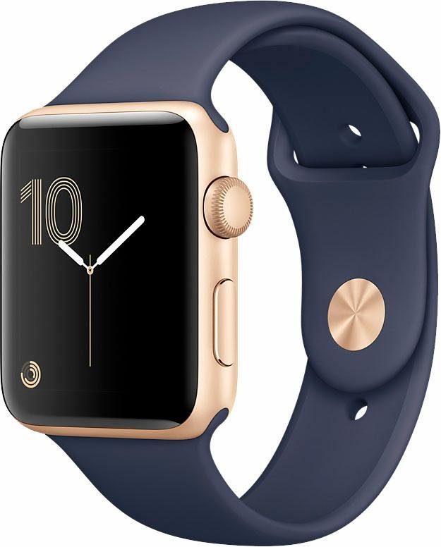 Apple Watch Aluminiumgehäuse Gold, 42mm, mit Sportarmband