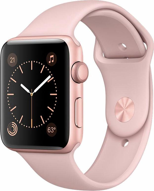 Apple Watch Aluminiumgehäuse Roségold, 42mm, mit Sportarmband