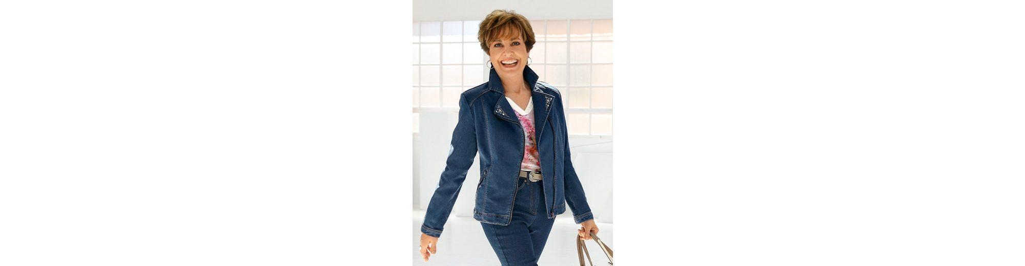 Meistverkauft Paola Jeansjacke mit Zierplättchen besetzt Spielraum Günstig Online Echt Ziellinie Kauf Zum Verkauf cAIK6i