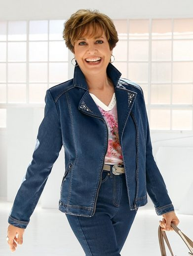 Paola Denim Jacket With Decorative Plate Occupied