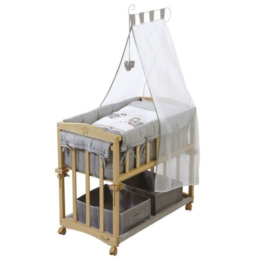 roba beistellbett mit ausstattung 4 in 1 jumbotwins 80x40. Black Bedroom Furniture Sets. Home Design Ideas