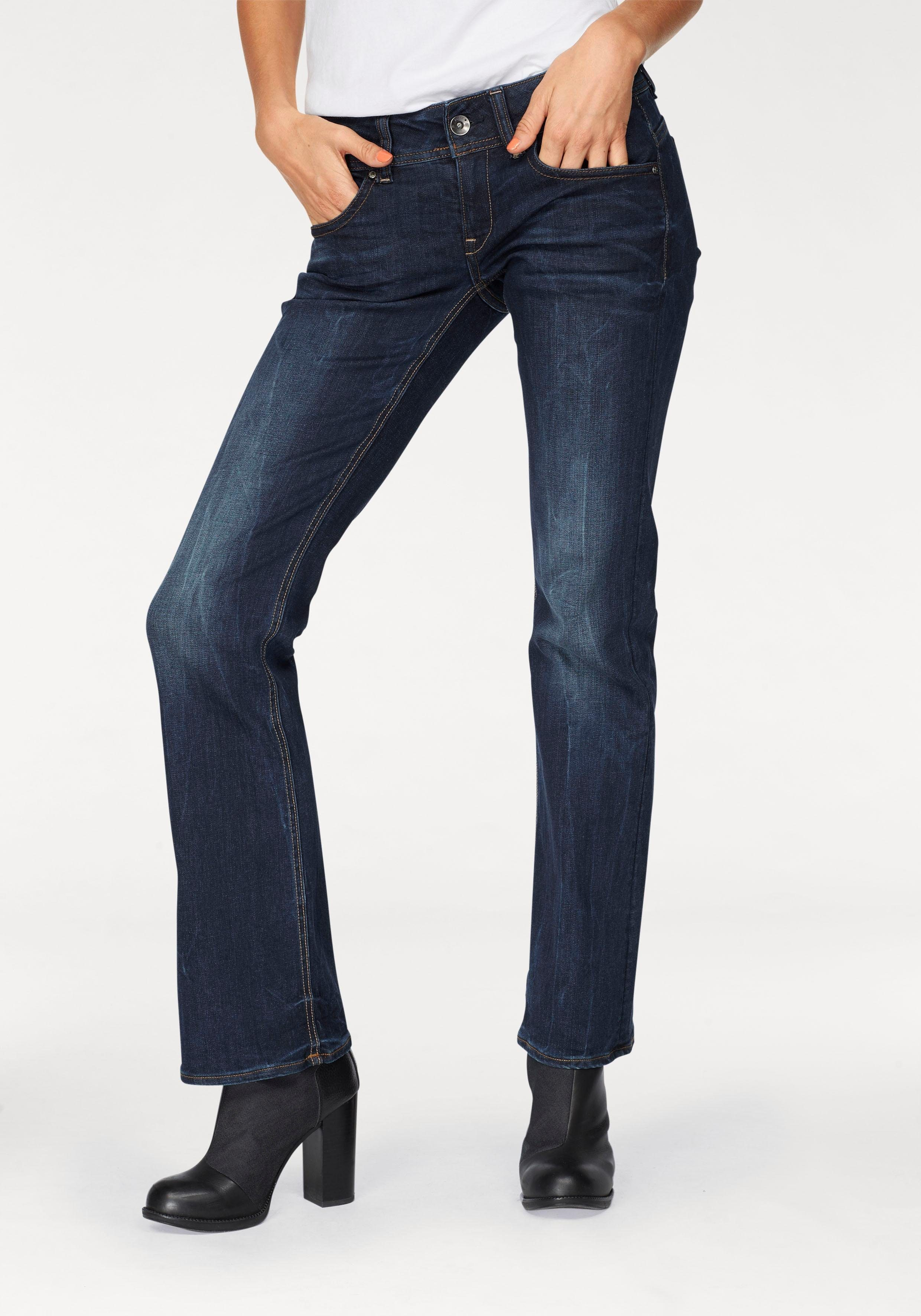 g-star damen bootcut jeans midge bootleg