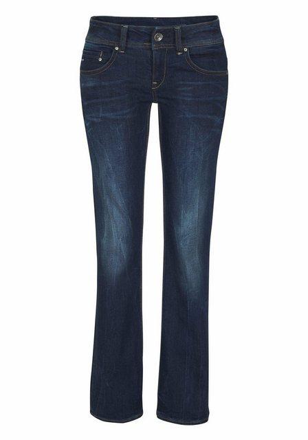 Damen G-Star RAW Bootcut-Jeans Midge Saddle Mid Bootleg blau | 08718598338284