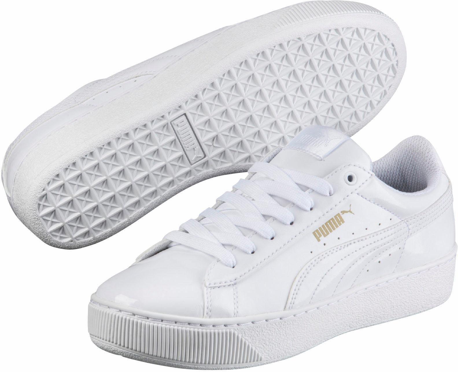 puma vikky platform patent sneaker