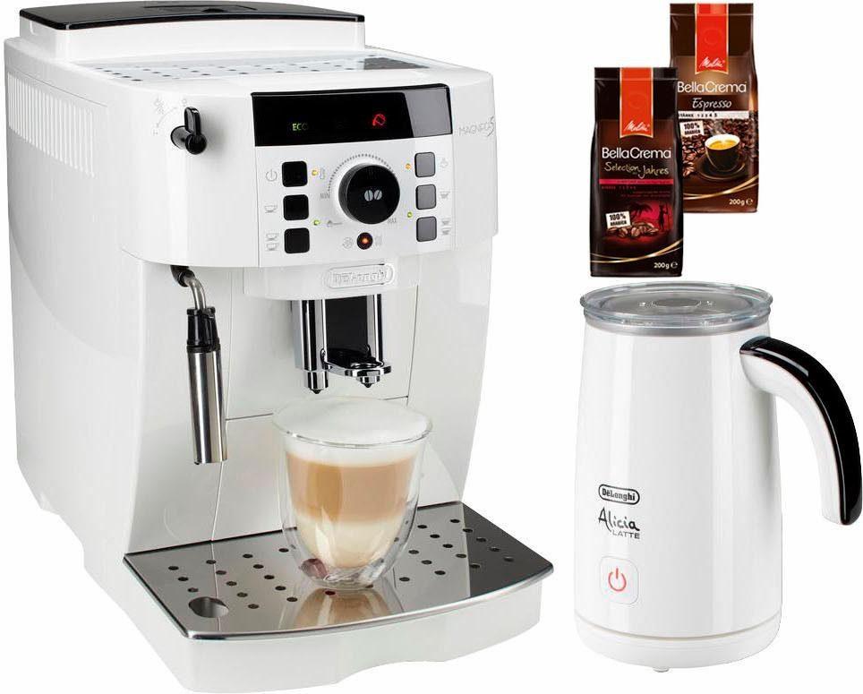 De'Longhi Kaffeevollautomat ECAM 21.118.W, Kegelmahlwerk, inkl. Milchaufschäumer im Wert von UVP € 89,99