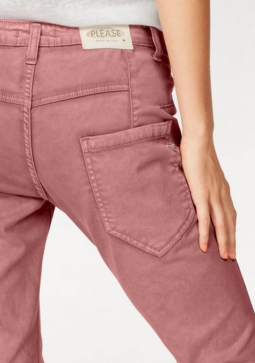 Please Jeans Chino Pants P85a, Washed In Light Optics