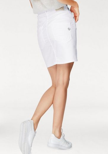 Please Jeans Mini Skirt With Front Button Tape