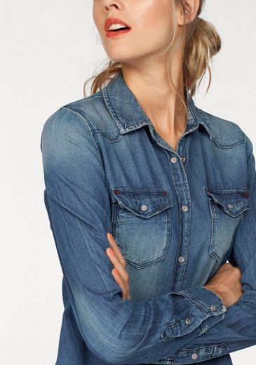 LTB Jeansbluse ANSLEY, mit cooler Used-Waschung