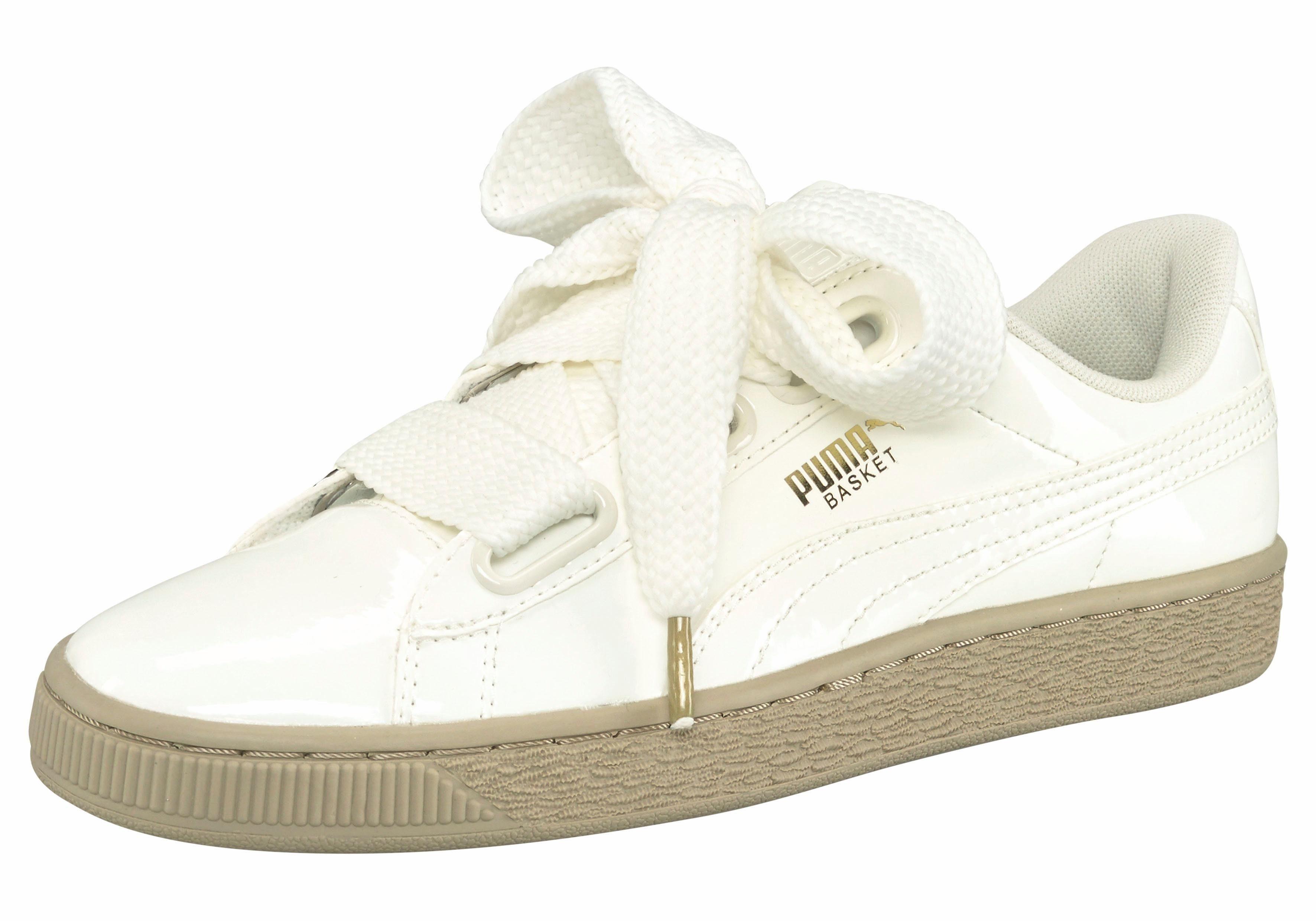 puma sneaker basket heart weiß