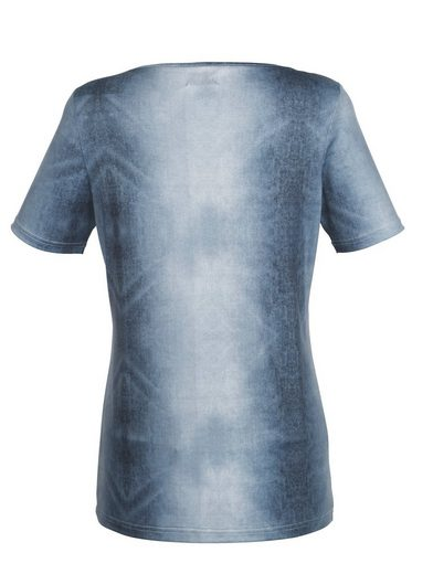Laura Kent Shirt in trendy Denim-Druck