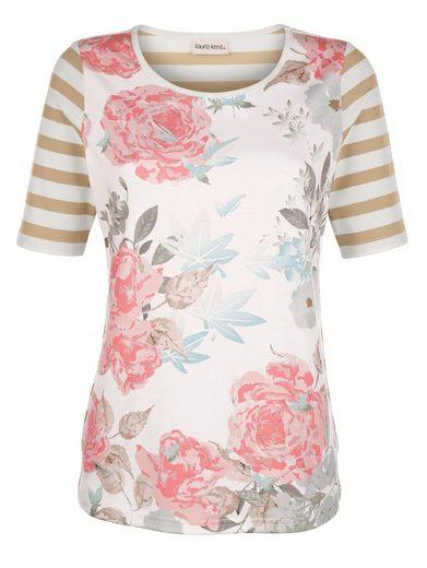 Laura Kent Shirt mit modischem Rosendruck