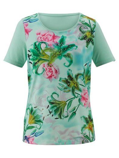 Paola Shirt mit Blumendruckmuster im Vorderteil