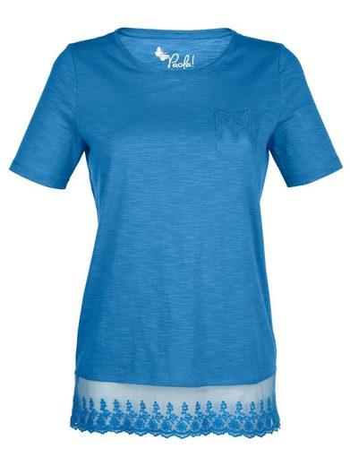 Paola Shirt mit schöner Spitze am Saum