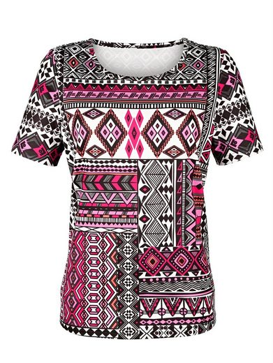Paola Shirt mit plaziertem Druckmuster