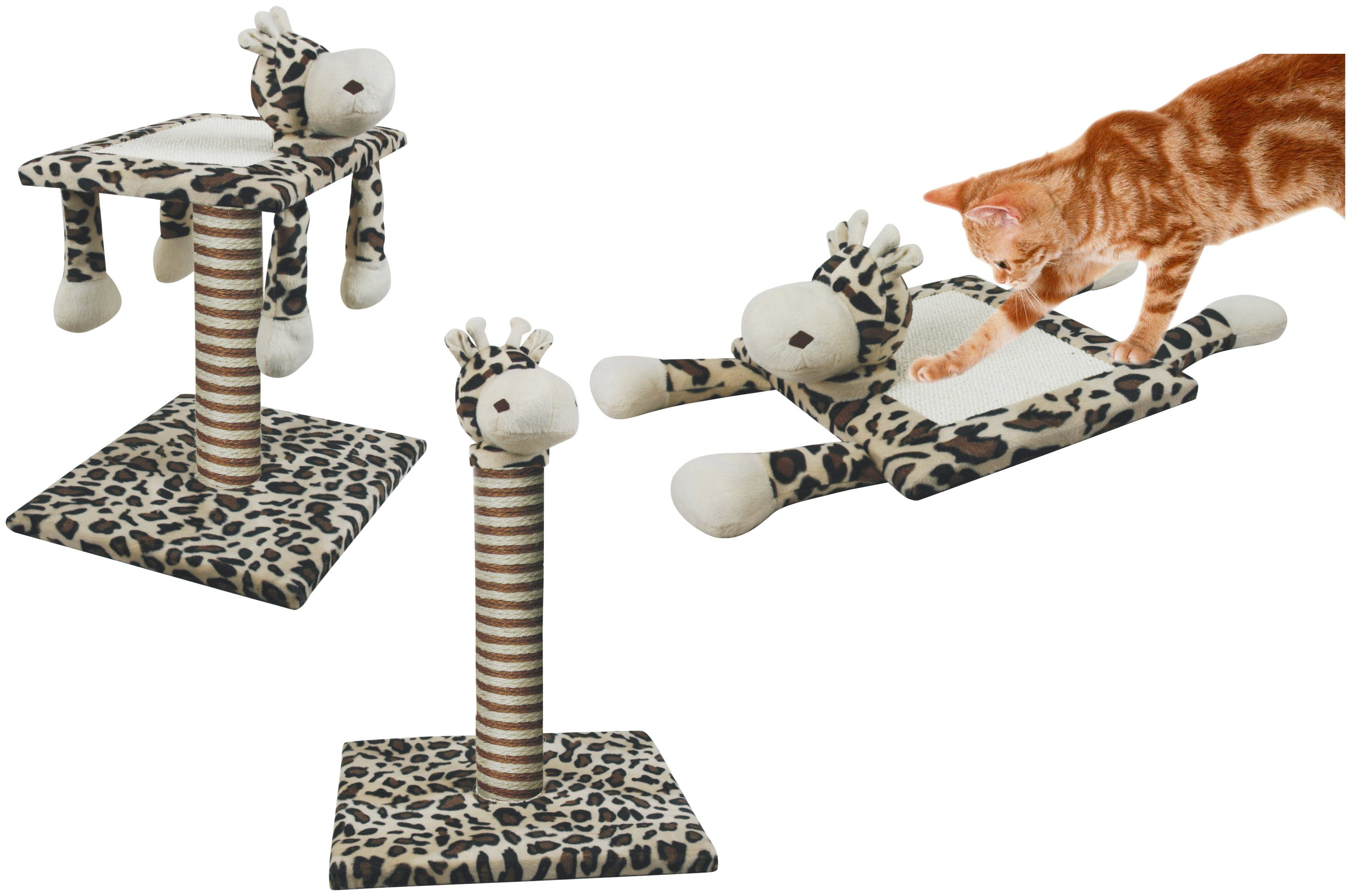 HEIM Kratzbaum »Set 3-in-1 Giraffe«, Gesamthöhe: 53 cm