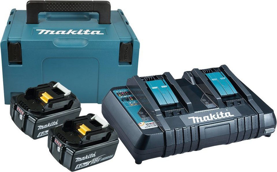 makita akku set power source kit 2 akkus 18 v 5 ah. Black Bedroom Furniture Sets. Home Design Ideas