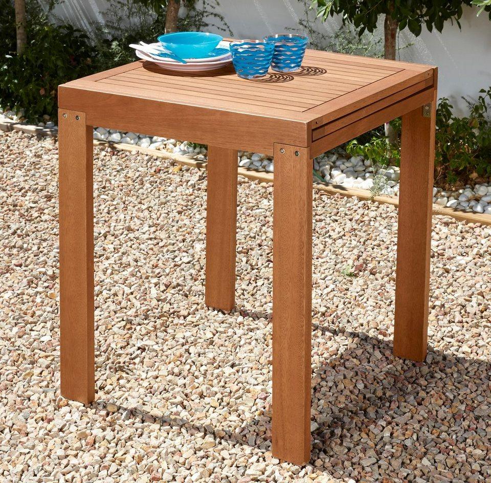 Merxx Gartentisch Borkum Eukalyptusholz 70x130 Cm Braun Online