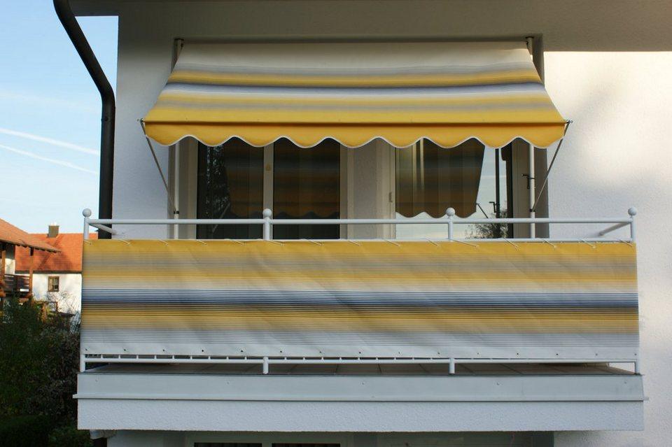angerer freizeitm bel balkonsichtschutz meterware gelb grau gestreift online kaufen otto. Black Bedroom Furniture Sets. Home Design Ideas