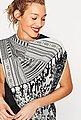 ESPRIT CASUAL Loop-Schal mit Print und Häkel-Details, Bild 2