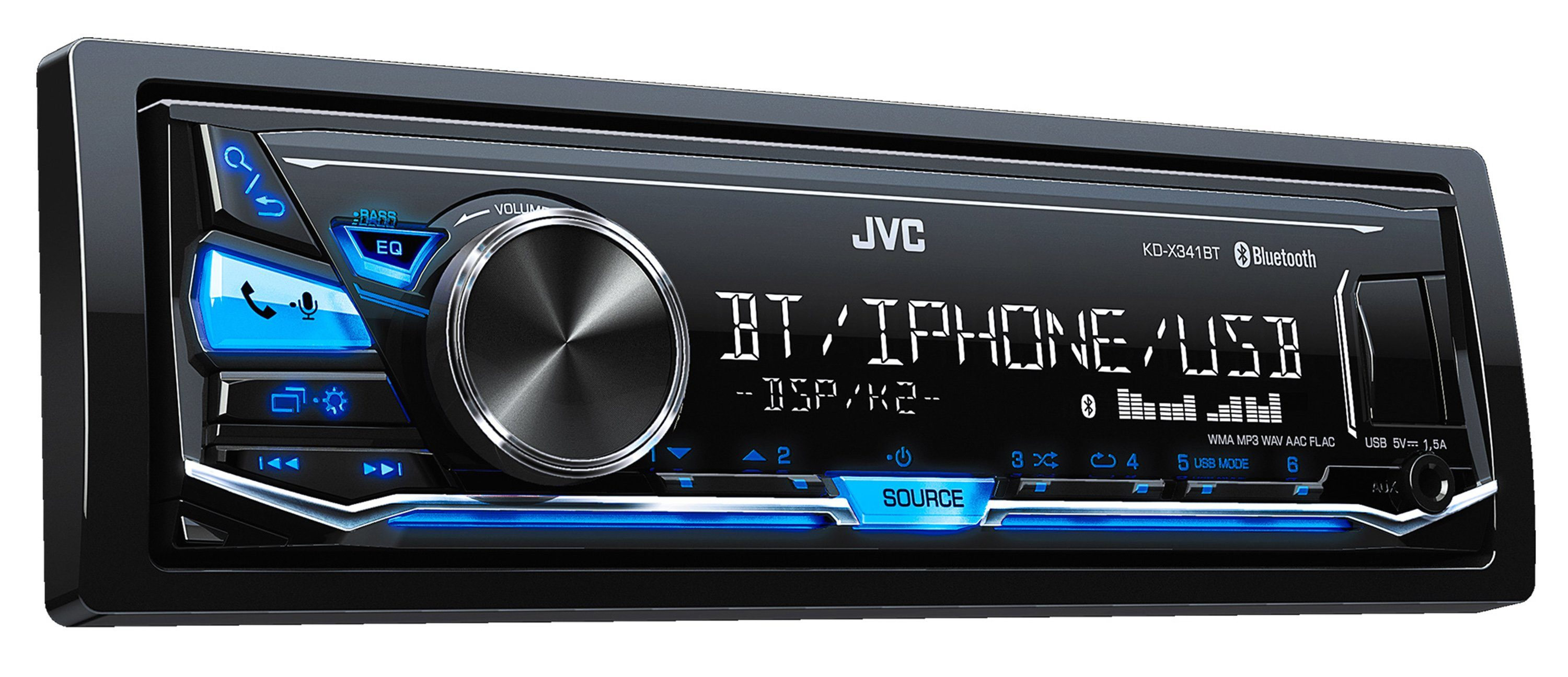 JVC 1-DIN Digital-Media-Receiver mit Bluetooth & USB »KD-X341BT«