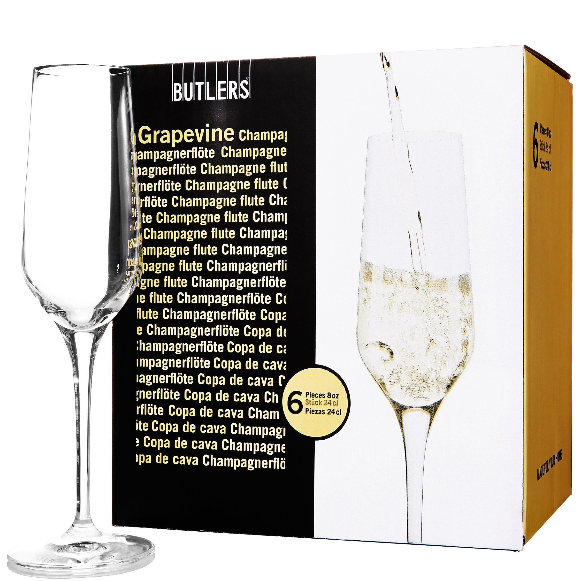 BUTLERS GRAPEVINE »Champagnerflöte 6er Set«